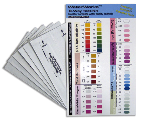 9-Way Home Water Test Kit
