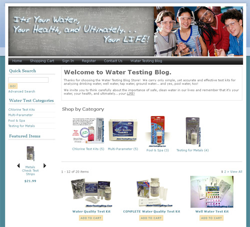 Water Testing Blog Store