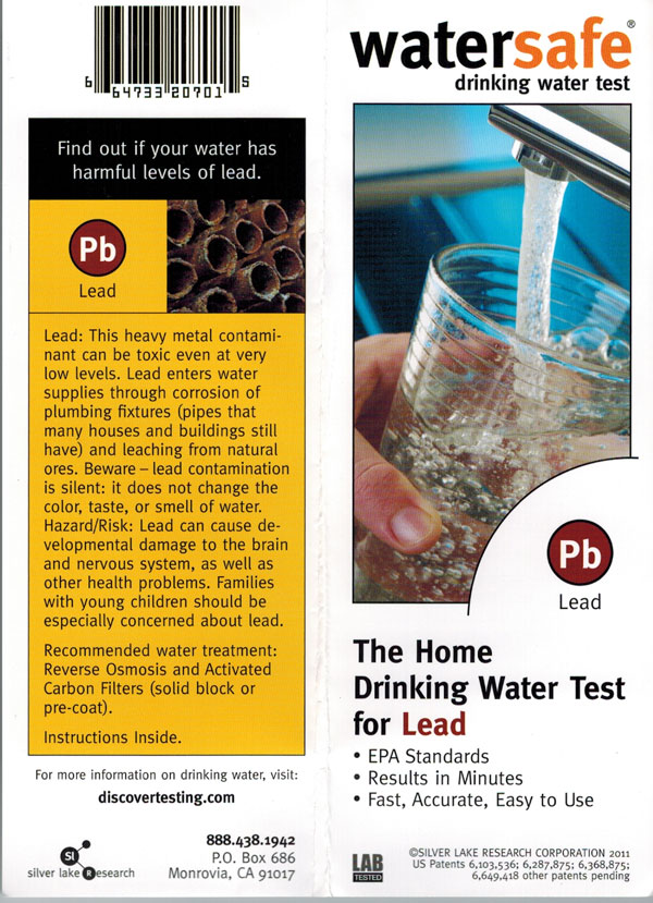 WaterSafe Lead in Water Test